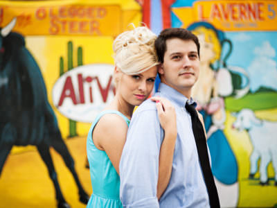 A carnival engagement session in Austin, Texas