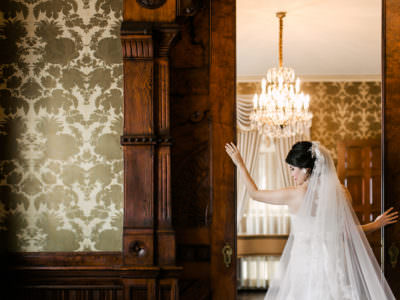 A bridal session at Chateau Bellevue in Austin, Texas