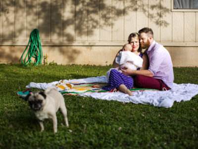 A newborn session at home in Austin, Texas