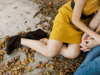An  Coffee Shop Engagement Session on the East Side in Austin, Texas