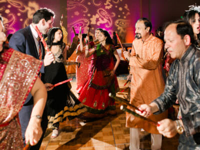 An Indian Wedding Sangeet at the Marriott Waterway in The Woodlands, Texas
