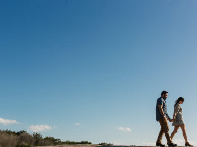 A Fall engagement session at McKinney Falls State Park in Austin, Texas
