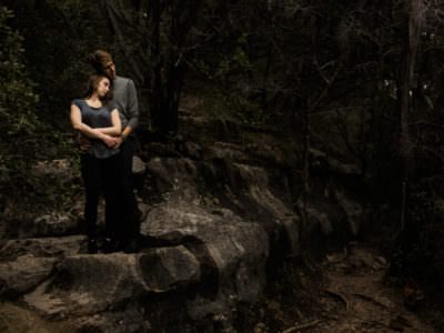 A Park engagement session at Bull Creek in Austin, Texas