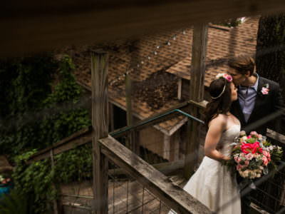 An intimate wedding at Sanctuary Event Space in Austin, Texas