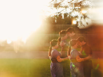 A newlywed session at home in Austin, Texas