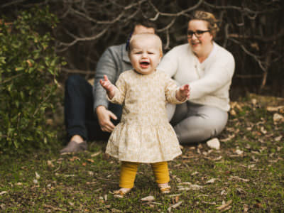 A One year old birthday portrait session at the park in Austin, Texas