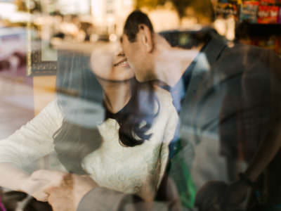 A downtown engagement session in Austin, Texas