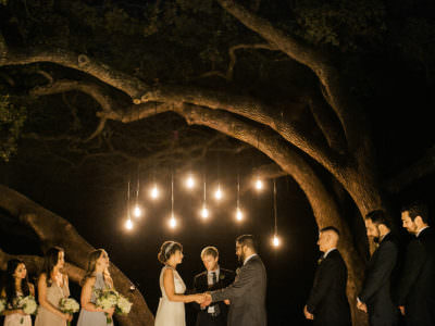A night wedding at mercury Hall in Austin, Texas