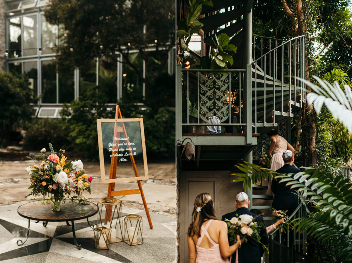a beautiful outdoor jewish wedding at the greenhouse at driftwood